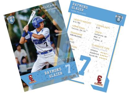 Maverick Light Blue Classlete Sports Card Front Back Male Baseball Player.png