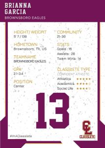 Maverick Purple Classlete Sports Card Back Female Hockey Player