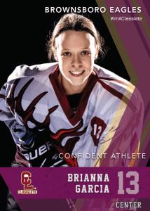 Maverick Purple Classlete Sports Card Front Female Hockey Player