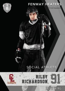 Maverick Silver Classlete Sports Card Front Male Hockey Player