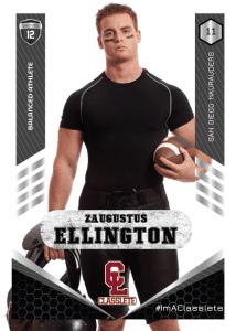 Revolt Black Classlete Sports Card Front Male Football Player