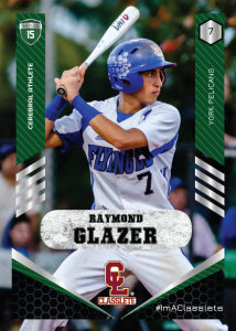 Revolt Dark Green Classete Sports Card Front Male Baseball Player
