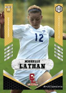 Revolt Gold Classlete Sports Card Front Female Soccer Player
