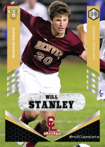 Revolt Gold Classlete Sports Card Front Male White Soccer Player