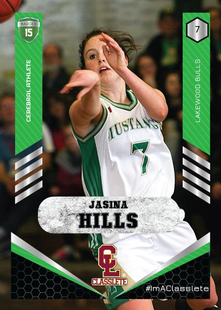 Revolt Light Green Classlete Sports Card Front Female White Basketball Player
