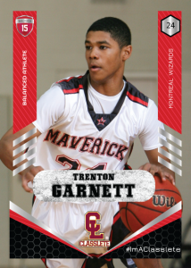 Revolt Light Red Classlete Sports Card Front Male Black Basketball Player
