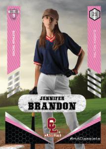Revolt Pink Classlete Sports Card Front Female Baseball Player