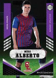 Revolt Purple Classlete Sports Card Front Male Soccer Player