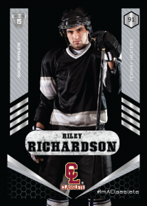 Revolt Silver Classlete Sports Card Front Male Hockey Player