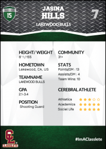 Transformer Dark Green Classlete Sports Card Back Female White Basketball Player