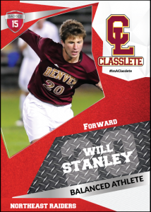 Transformer Light Red Classlete Sports Card Front Male White Soccer Player