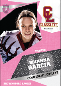 Transformer Pink Classlete Sports Card Front Female Hockey Player