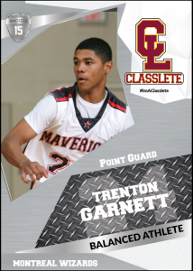 Celebrity Silver Classlete Sports Card Front Back Male Black Basketball Player