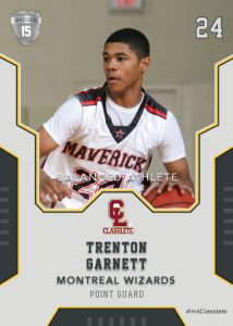 Edgy Silver Classlete Sports Card Front Back Male Black Basketball Player