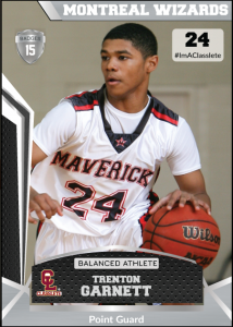 Jersey Silver Classlete Sports Card Front Male Black Basketball Player
