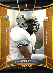 Royalty Classlete Sports Card Front Male Black Football Player